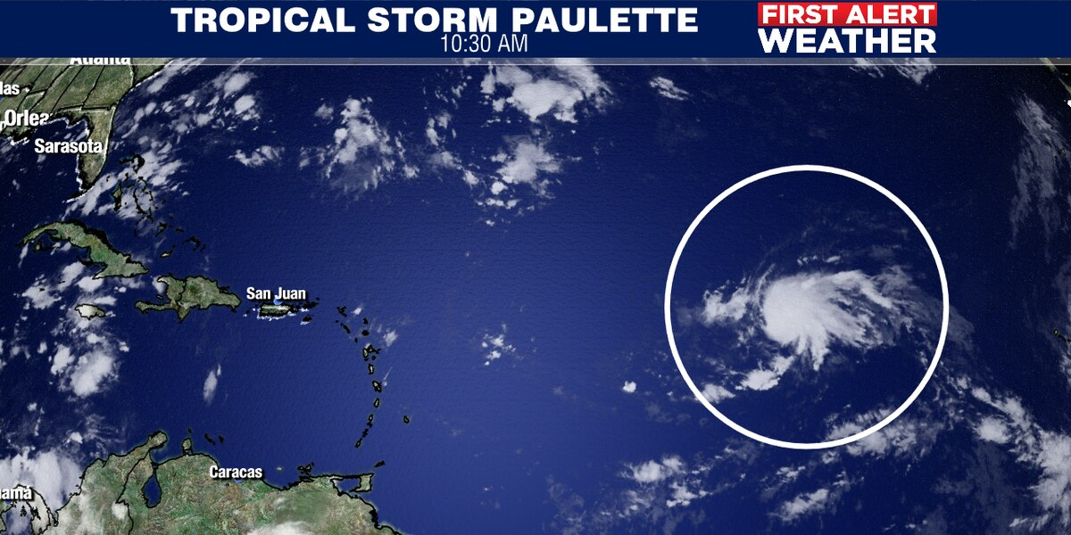 Tropical Storm Paulette forms in Atlantic
