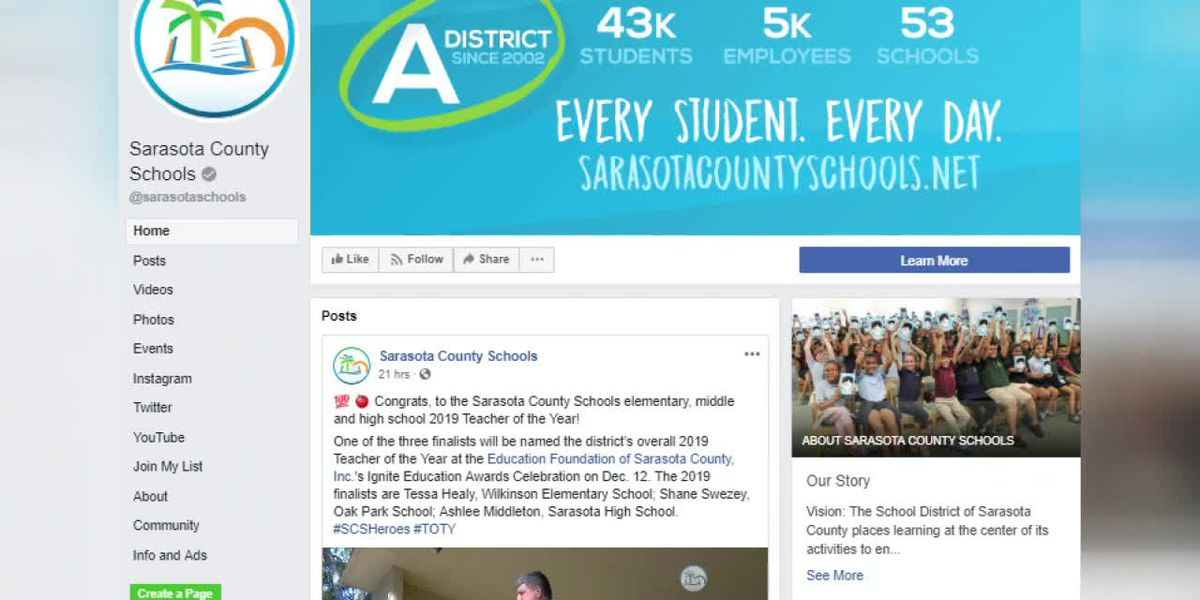 Sarasota County School Board Members look into changing the district's Facebook policy