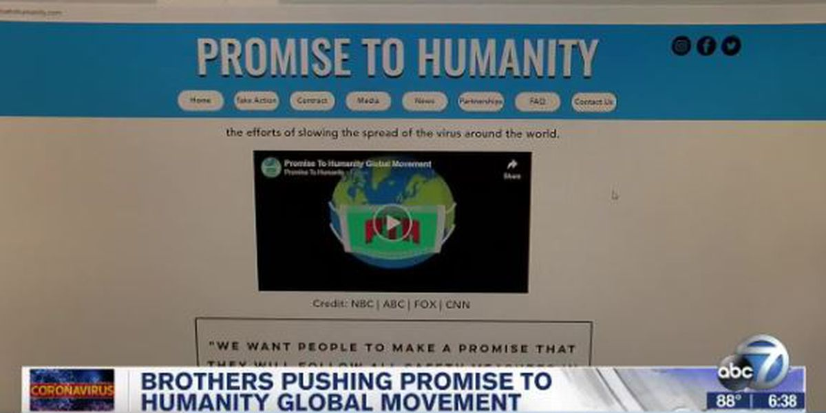 Brothers pushing 'Promise to Humanity' global movement