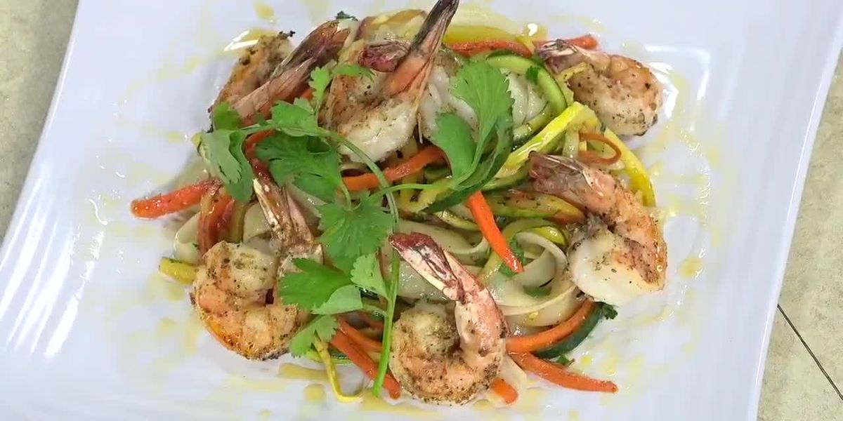 Coriander Crusted Shrimp From Nick's Bistro