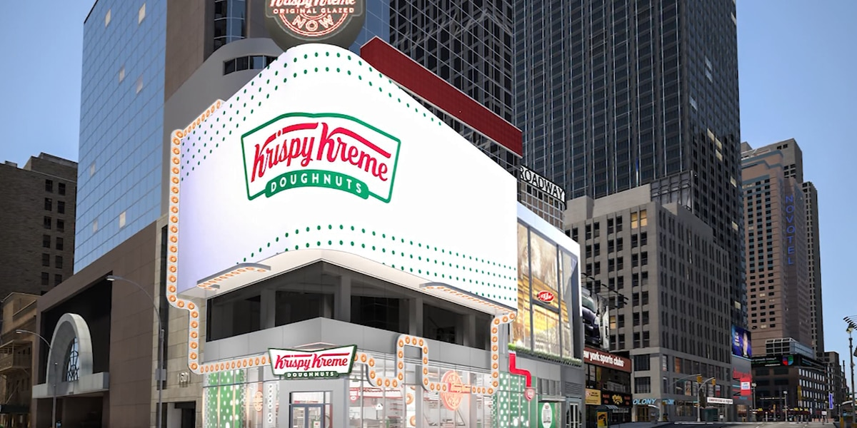 Biggest 'Hot Light' in the world: Krispy Kreme to open flagship store in Times Square