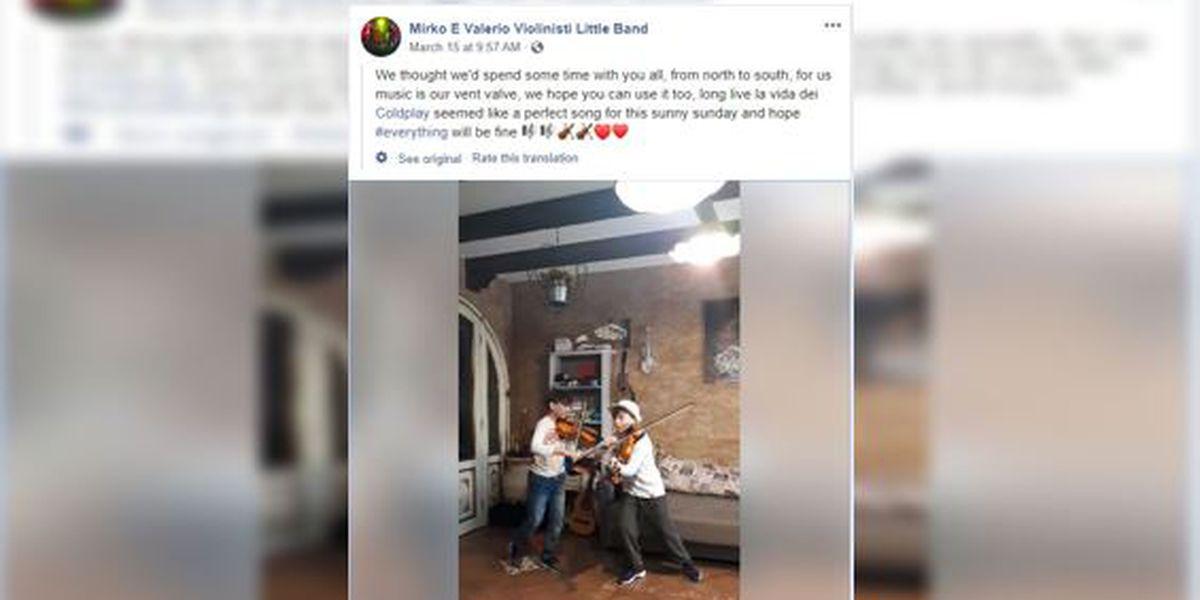 WATCH: Italian twins strike a chord with Coldplay's 'Viva la Vida' in a coronavirus world