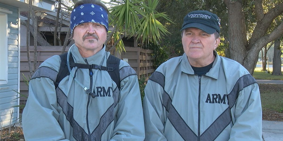 Two disabled veterans walking across country for good cause