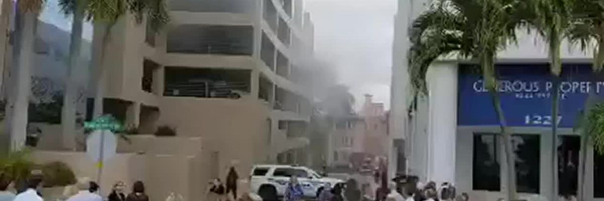 Fire in downtown Sarasota highrise