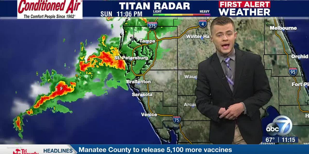 Tracking Storms Heading Into The Suncoast