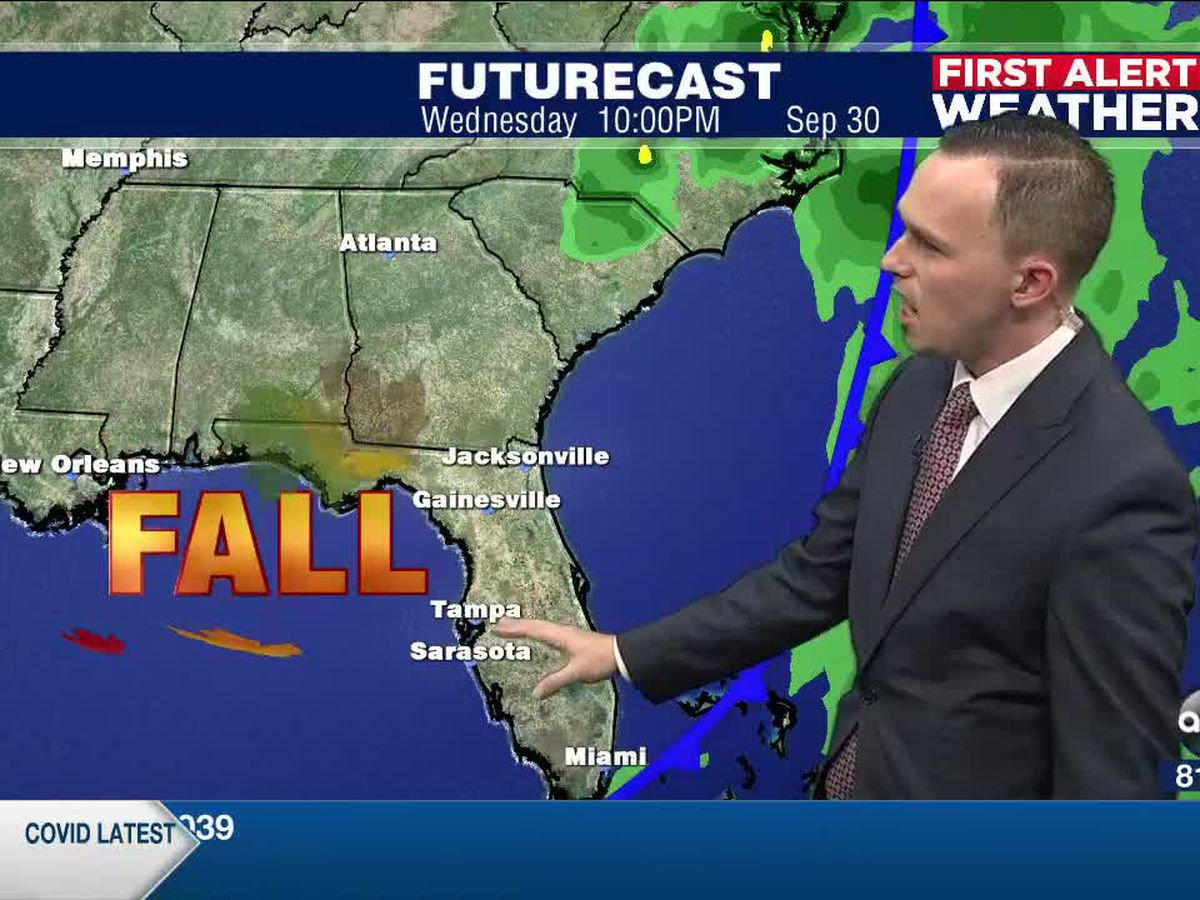 First Alert Weather: Saturday, September 26, 2020 - Numerous showers and storms through Wednesday ahead of an early season cold front bringing a taste of fall by the middle of next week