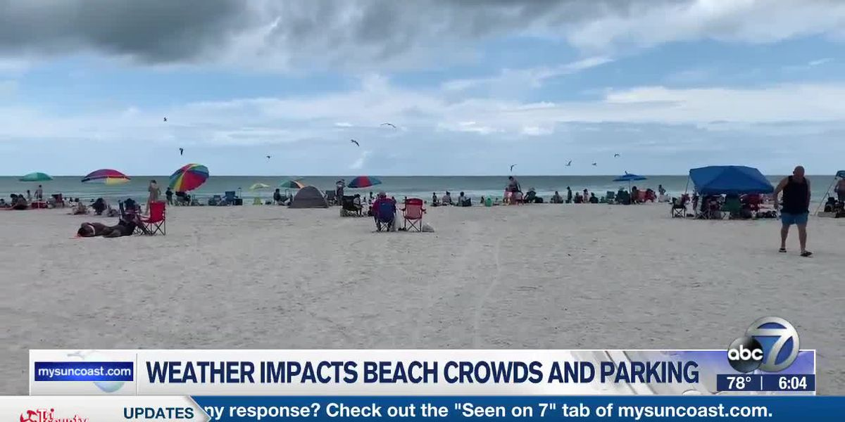 Weather Impacts Beach Crowds and Parking