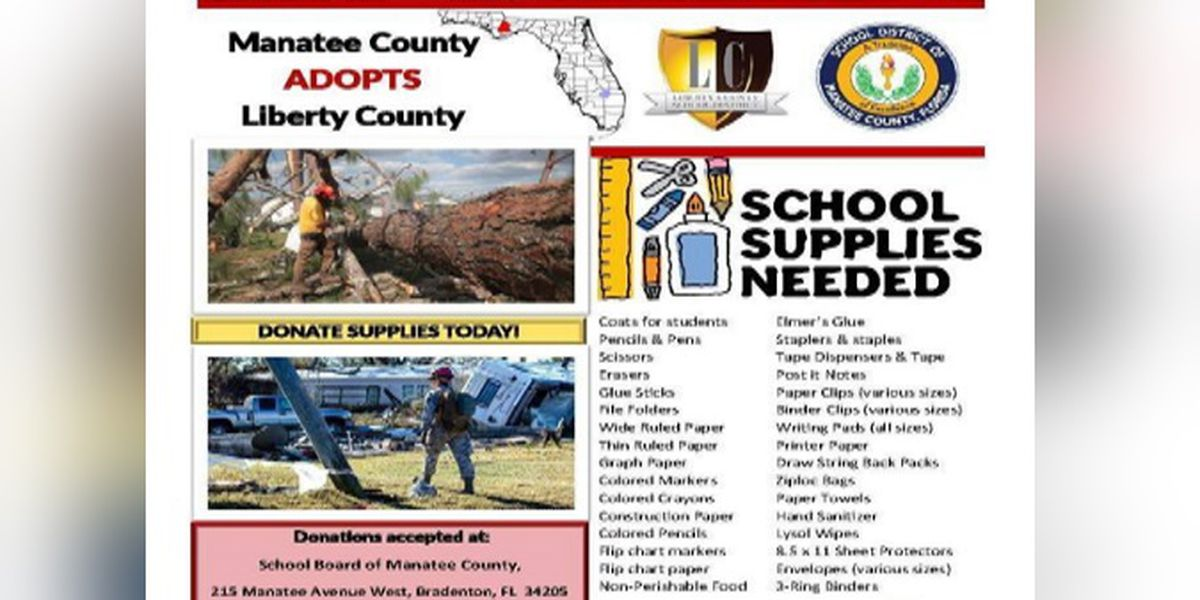 Manatee County School District collects supplies for Hurricane Michael victims