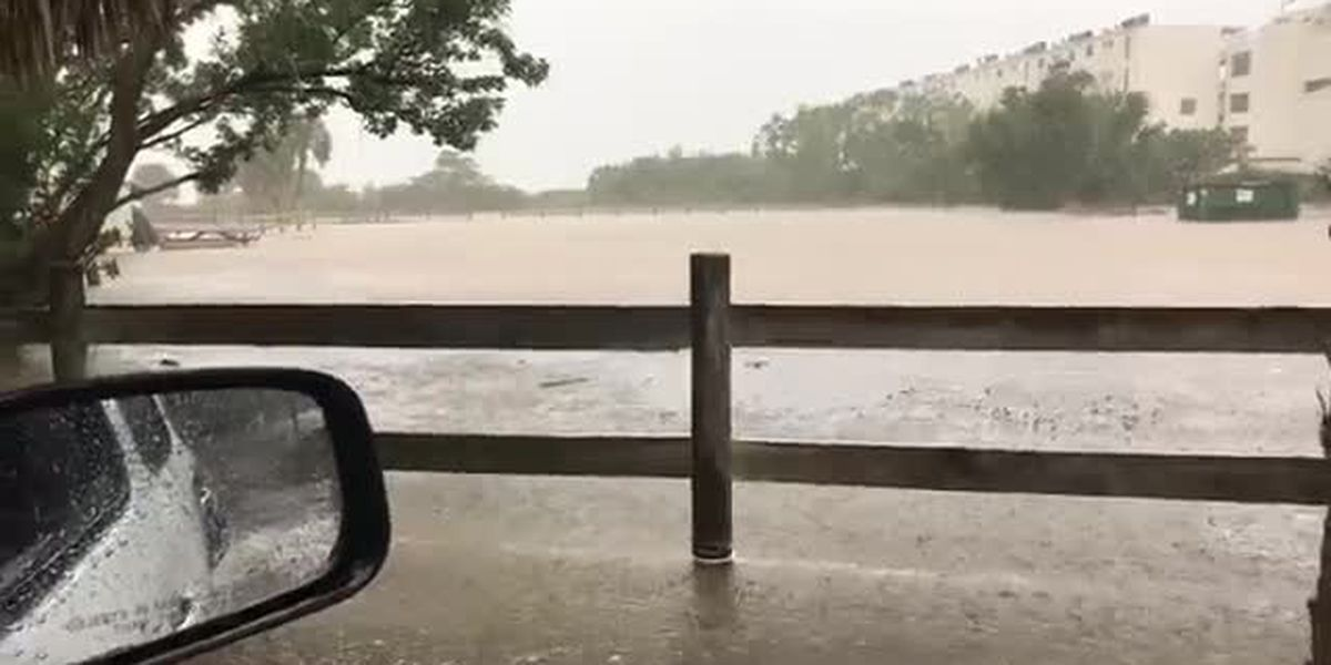 VIDEO: Flooding at Ted Sperling Park in South Lido Beach