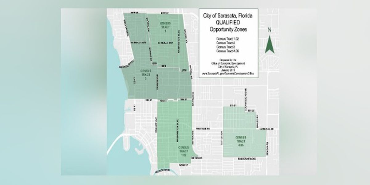Four areas in the City of Sarasota named 'Opportunity Zones' for investment