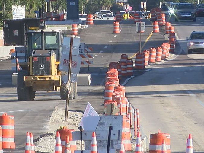Traffic changes at U.S. 41 between 10th and 14th Street in Sarasota