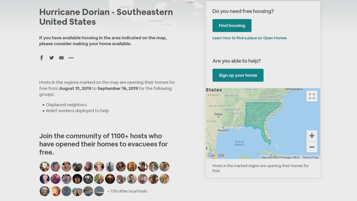 Suncoast hosts offer free refuge for Hurricane Dorian evacuees through Airbnb program