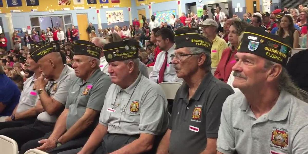Flag raising ceremony held at Freedom Elementary school in honor of Veteran's Day