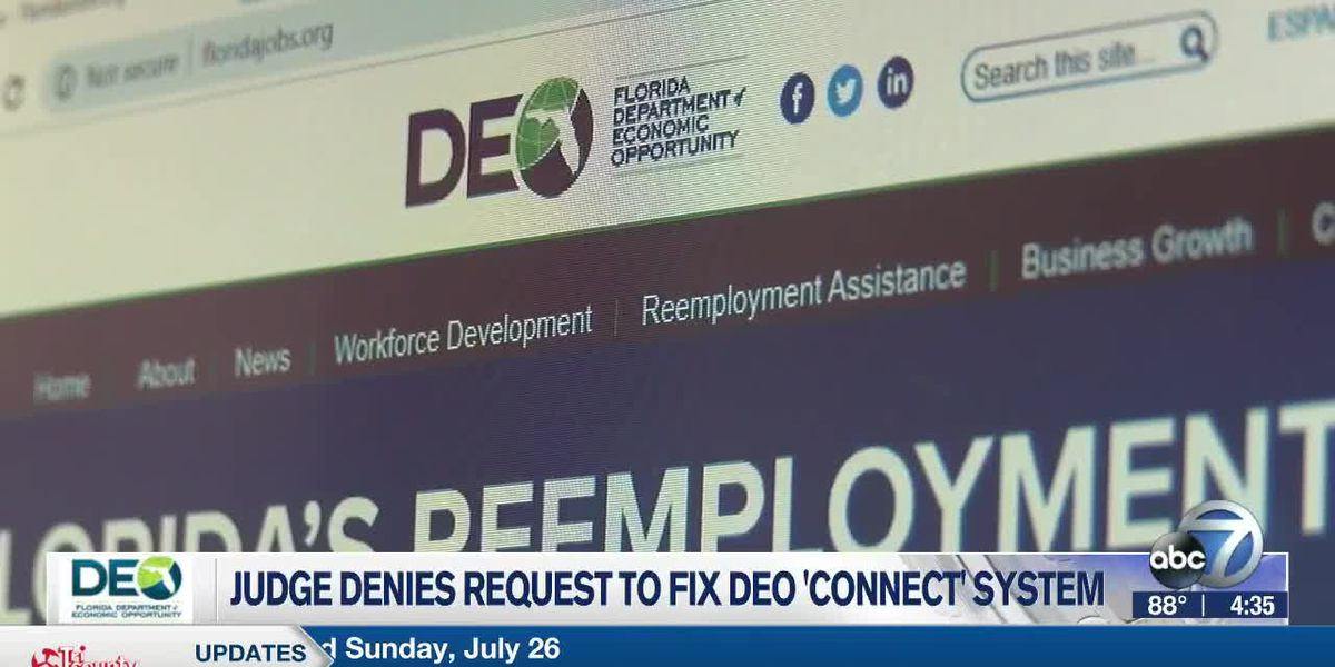 Judge Denies Request to Fix DEO 'Connect' System