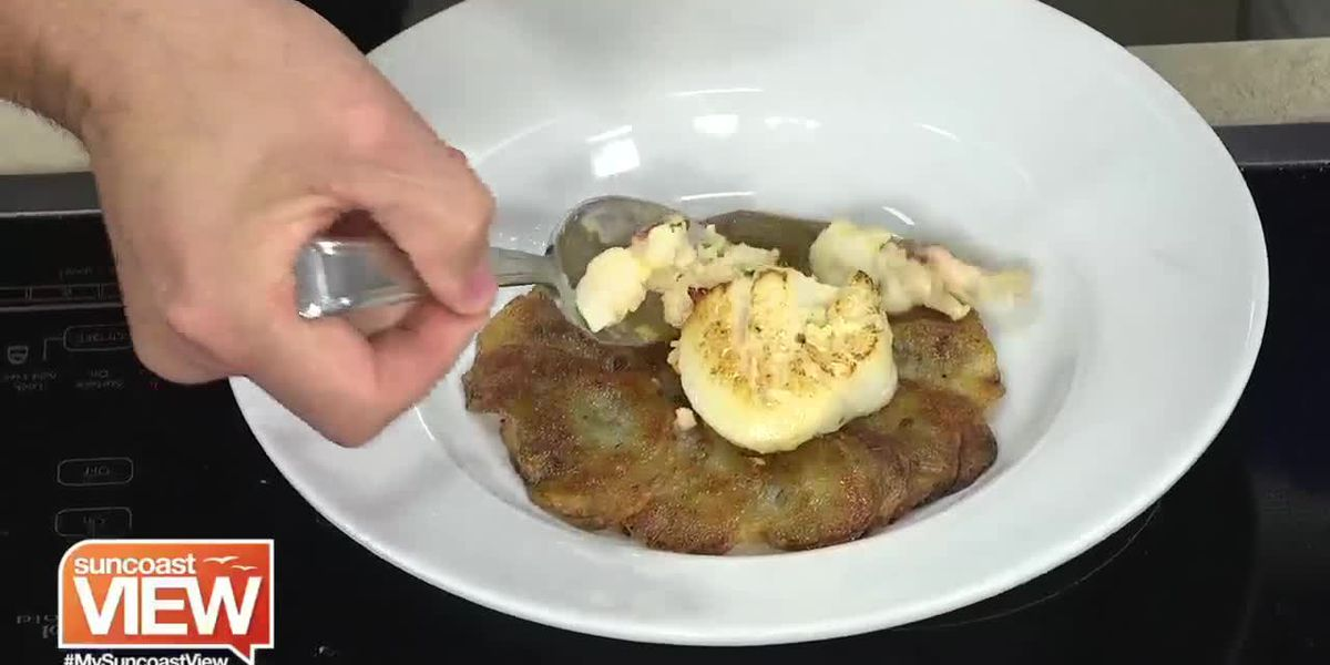 Recipe for Lobster-Stuffed Sea Scallop & Potato Casserole from Mattison's | Suncoast View