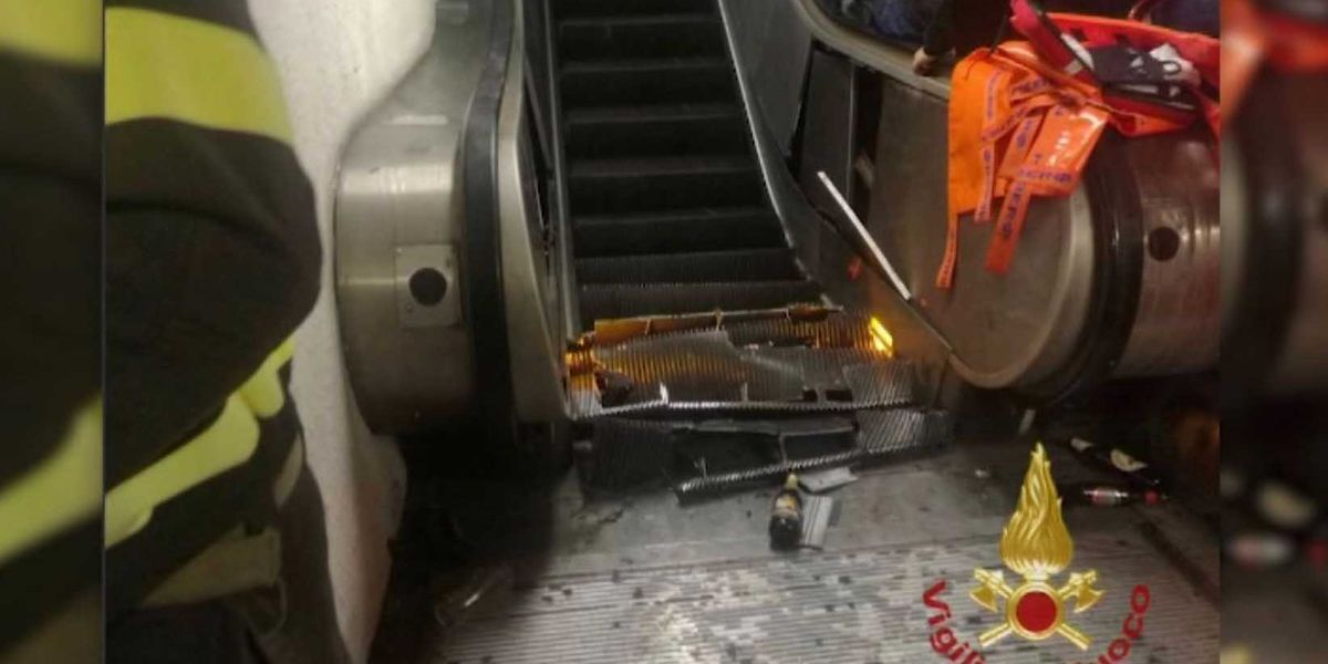 20 injured in Rome escalator accident