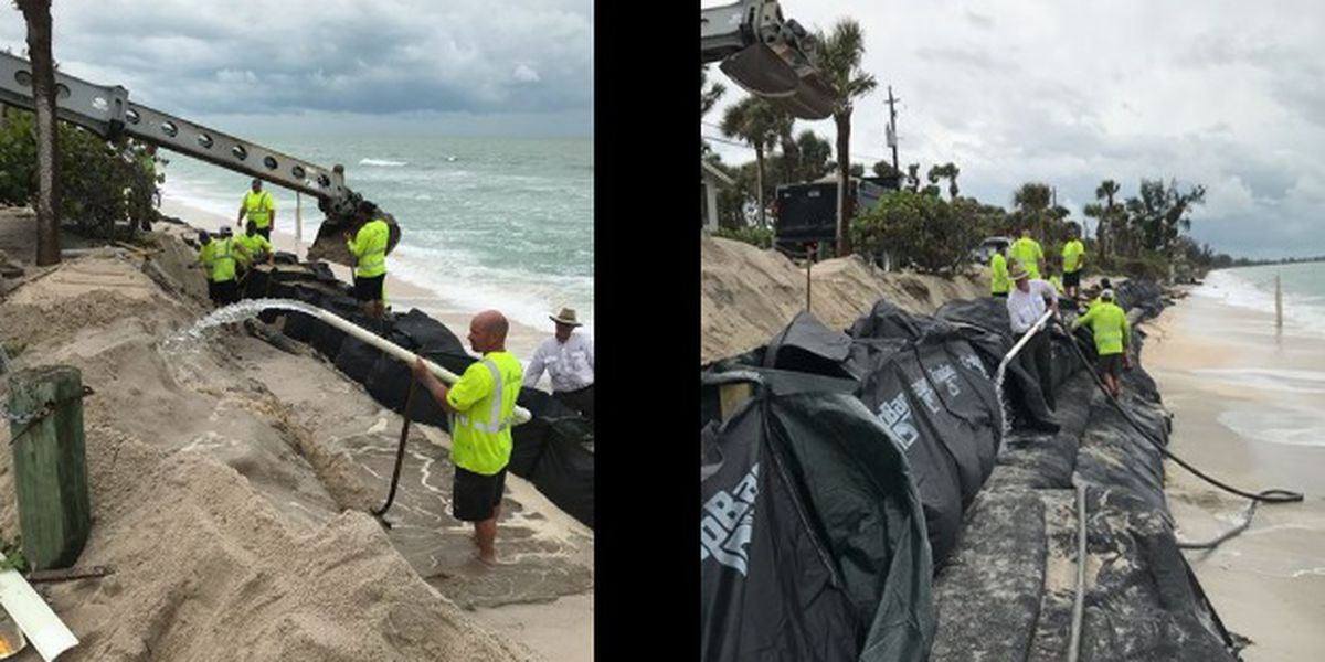 Sandbags are being installed in Sarasota County