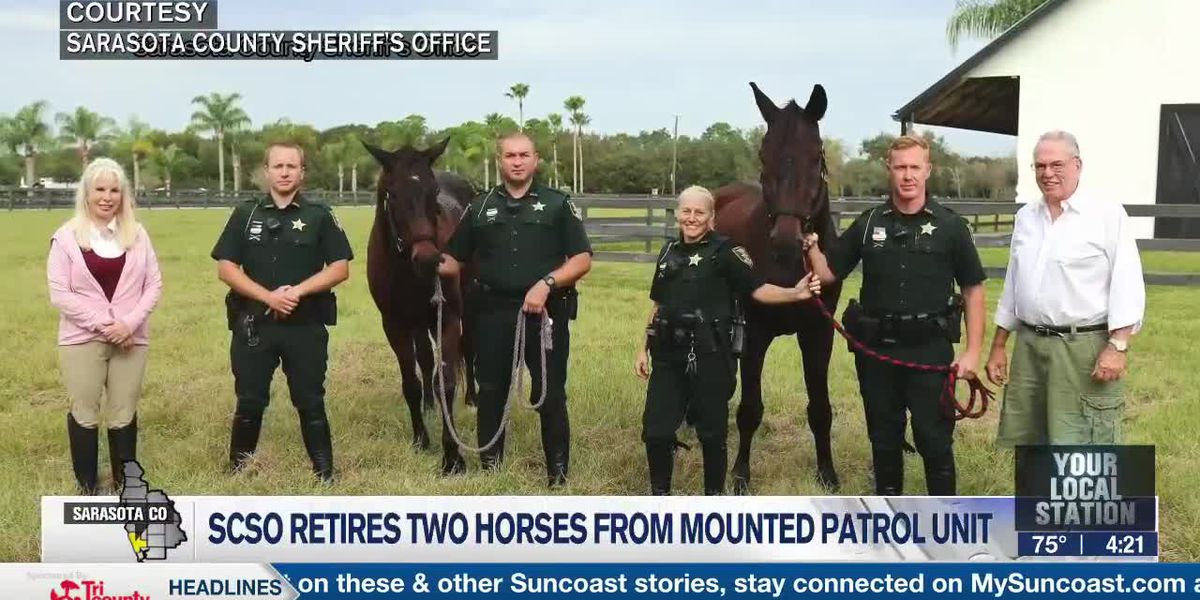 SCSO Retires Two Horses from Mounted Patrol Unit