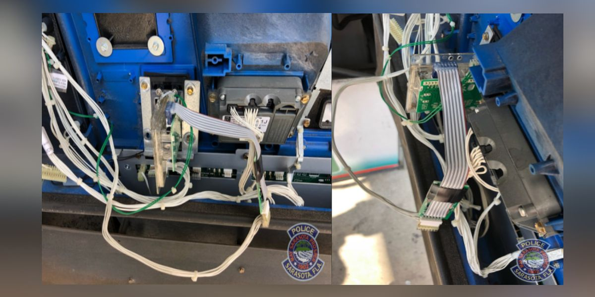 Suspected skimming device found at 7-11 gas station in Sarasota on Monday