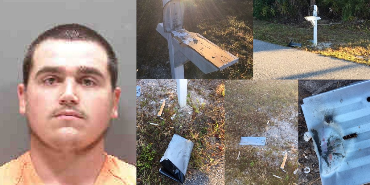 Man accused of using fireworks to blow up two mailboxes in North Port