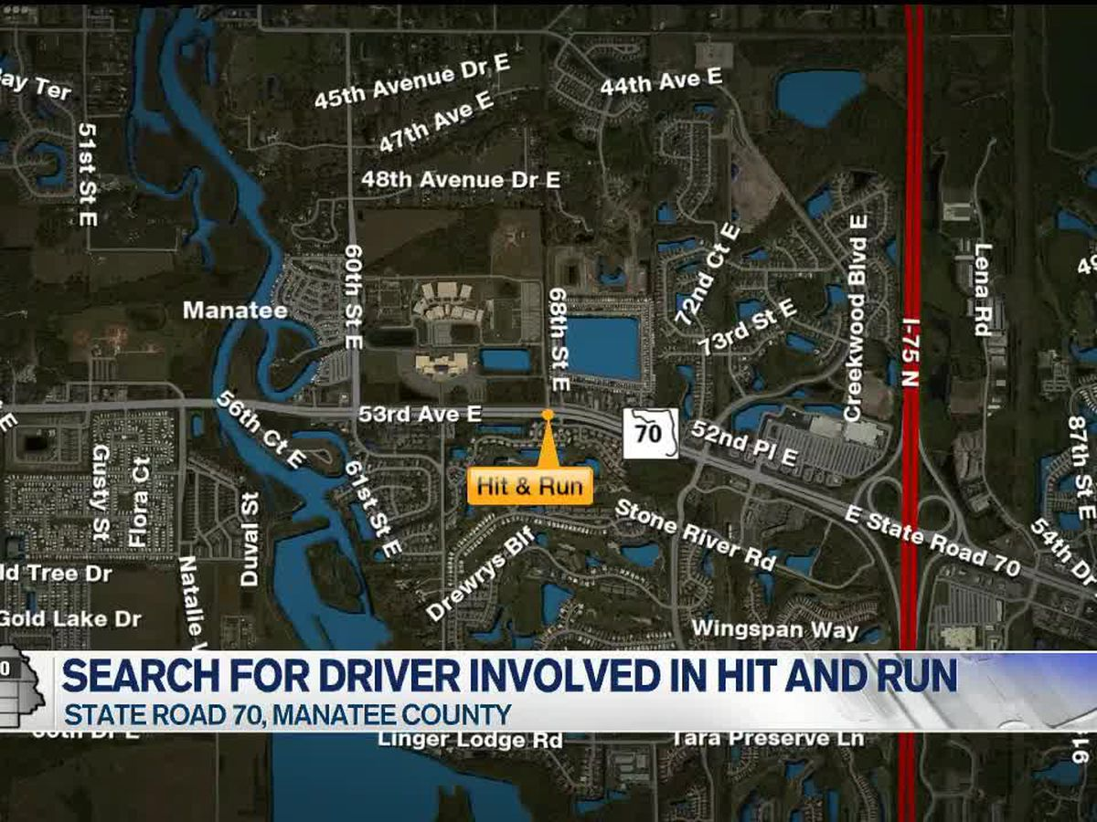 Troopers searching for driver in hit-and-run crash on State Road 70 in Manatee County