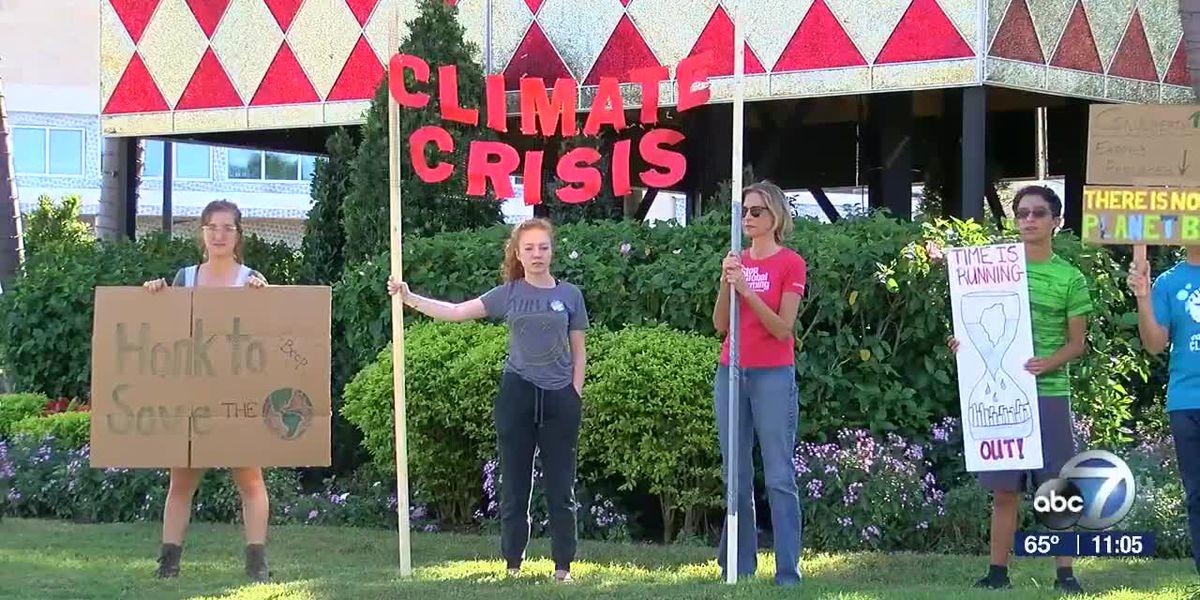 Sarasota students hold climate protest near UTC Mall on Black Friday
