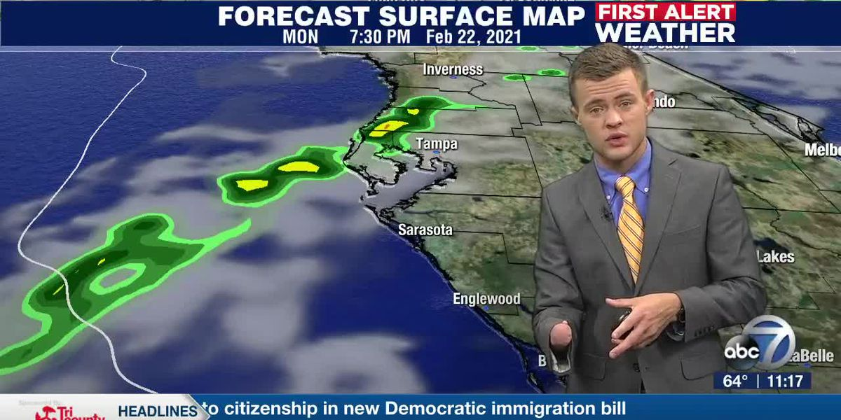 Cold front approaches the Suncoast