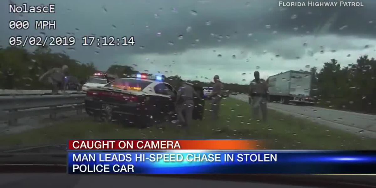 VIDEO: Florida man steals highway patrol vehicle and lead cops on 11 mile chase