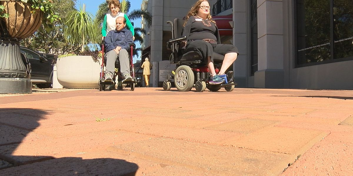 Community with disabilities call on City of Sarasota to use different materials downtown