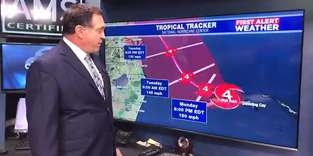 Hurricane Dorian remains a Category 4, but winds have slowed slightly