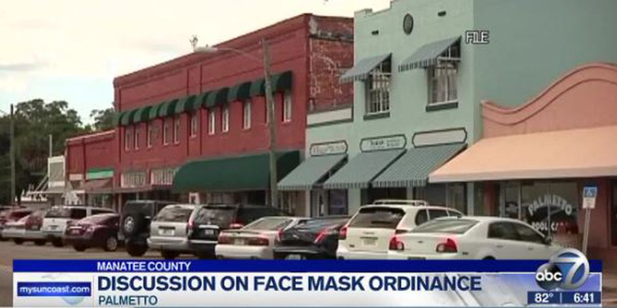 City of Palmetto to discuss possibility of a face mask ordinance in meeting scheduled for Monday evening