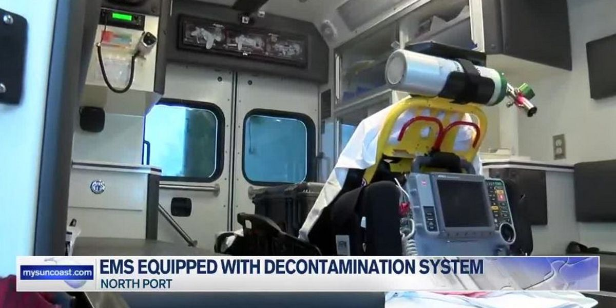 North Port Fire Department and EMS unit equipped with decontamination system