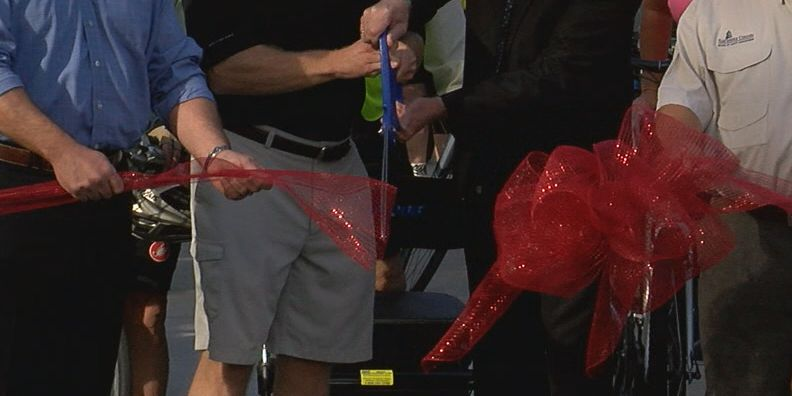 Ribbon cutting for new Legacy Trail overpass