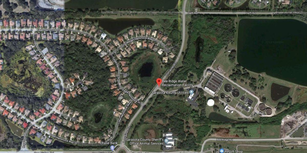Reclaimed water pond overflows in Sarasota