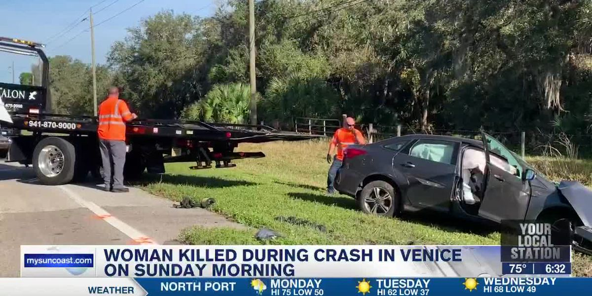 Woman Killed During Crash in Venice on Sunday Morning