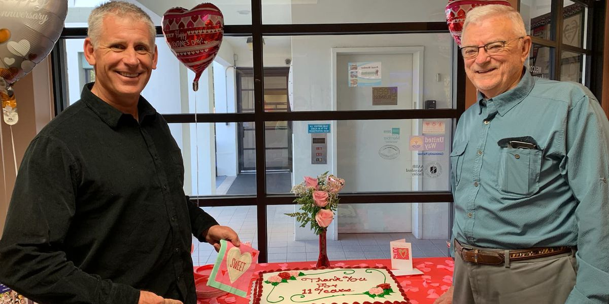 Grateful heart patient helps Suncoast Blood Bank celebrate 70th anniversary