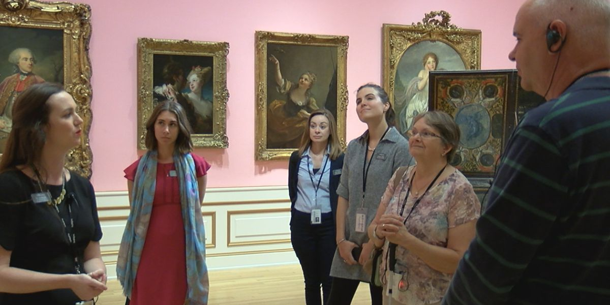 Seeing art without vision: Lighthouse of Manasota takes clients on a tour of Ringling Museum