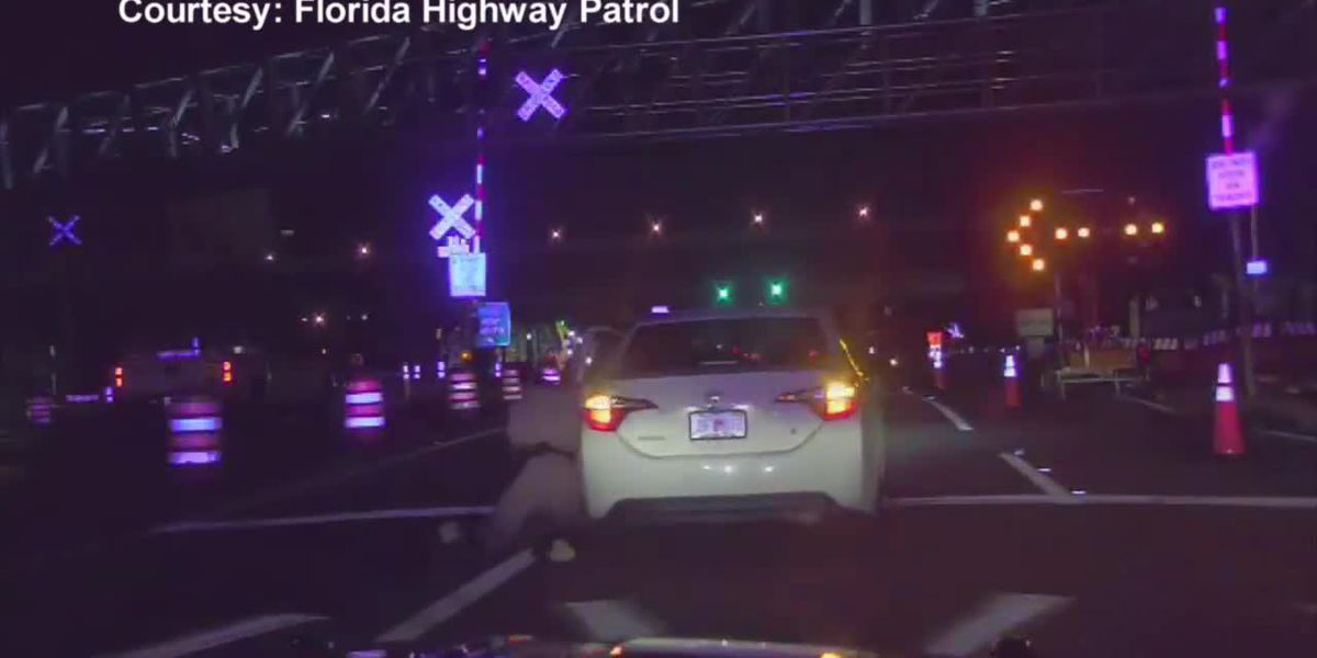 WATCH: Florida trooper dragged 100 feet by car during traffic stop