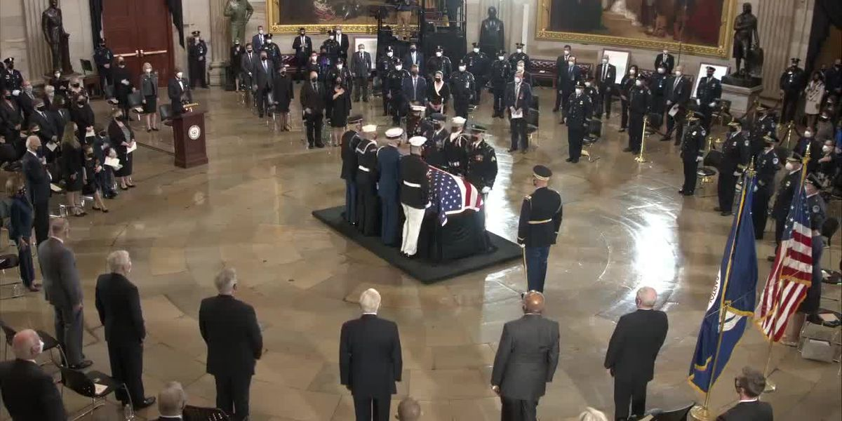 Capitol Police Officer William Evans lies in honor