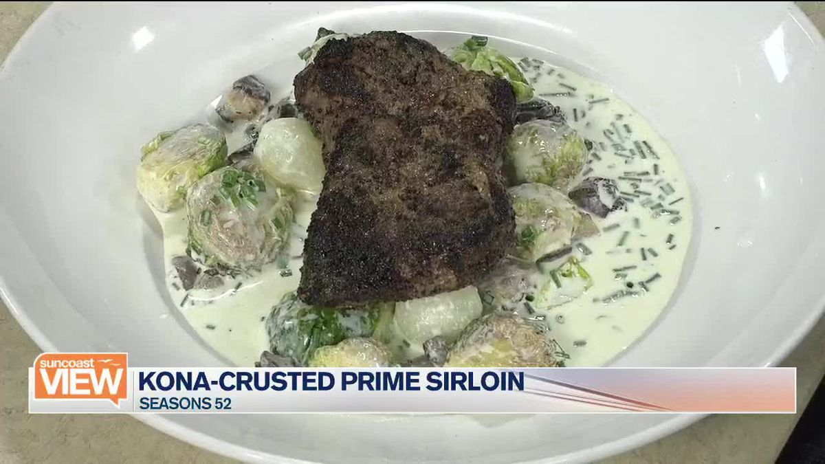 Seasons 52 Makes a Kona-Crusted Prime Sirloin and Previews their New Menu | Suncoast View