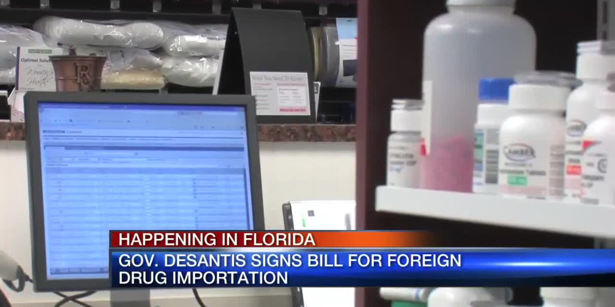 Florida governor signs bill for foreign drug importation