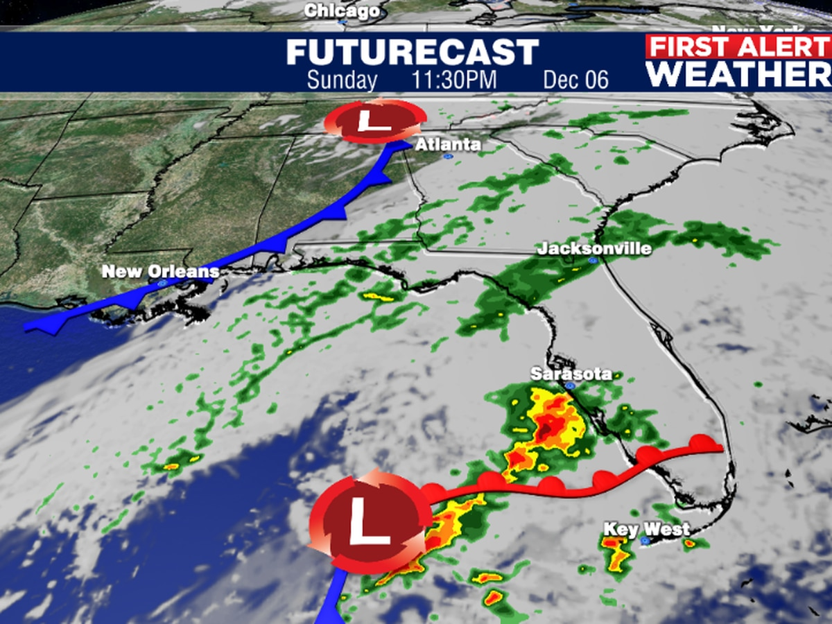 Another strong cold front to bring big changes early next week