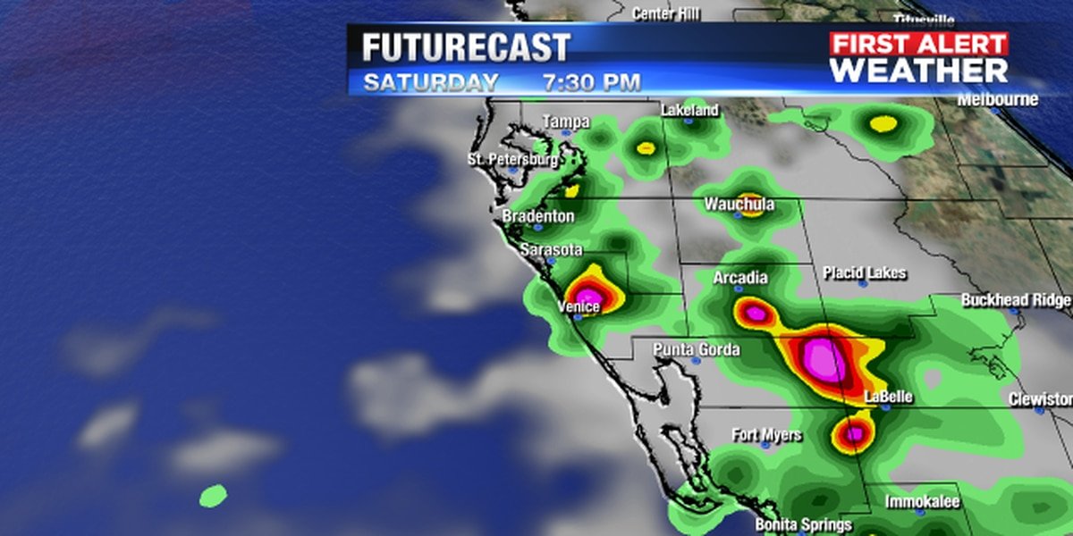 Storms on the increase for the weekend along with lightning