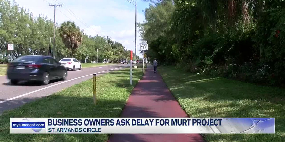 Some business owners on St. Armands concerned over construction timing of new walking and bicycle trail