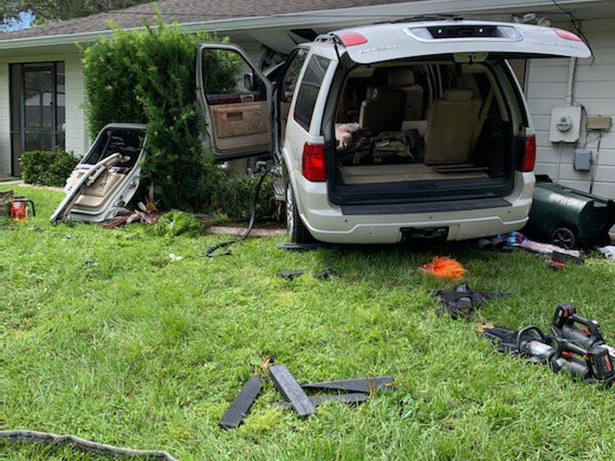 SUV crashes into home in North Port