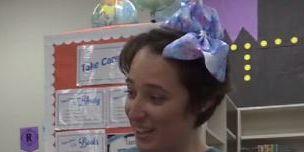 teacher cuts waistlength hair to support 5yearold girl