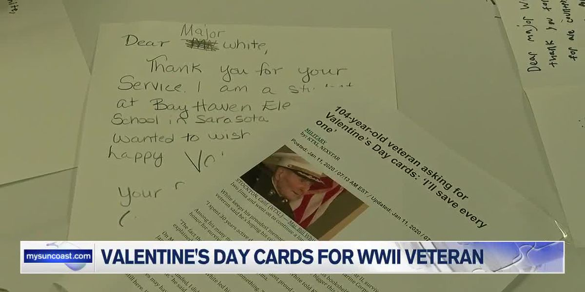 Suncoast students sending Valentines Day cards to veteran for his birthday