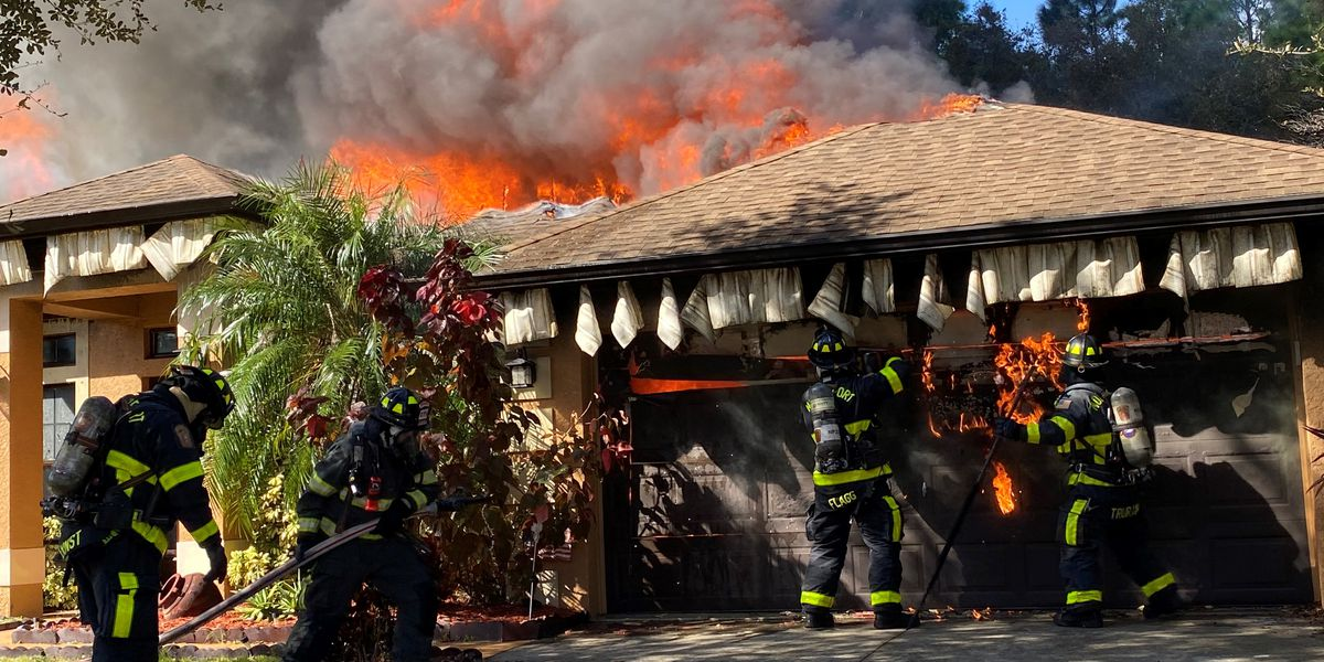 House fire in North Port leaves family displaced, firefighters save dog's life