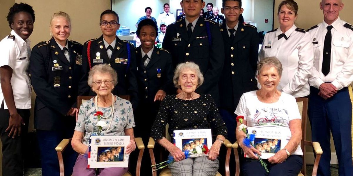 Local Female veterans in Sarasota honored who served in WWII by Sarasota Military Academy