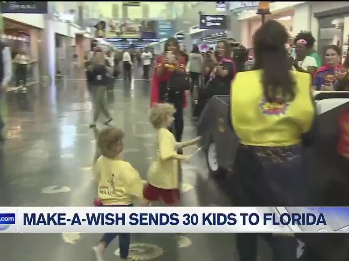 Make-A-Wish sends 30 kids and their families to Florida